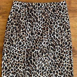 J. Crew leopard pencil skirt